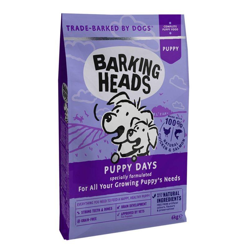 """Barking Heads для щенков с лососем и курицей """"Щенячьи деньки"""""""