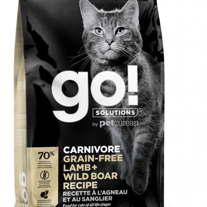 GO! беззерновой корм для котят и кошек, с ягненком и мясом дикого кабана